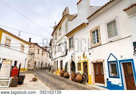 Street In The Old Town Of Estremoz In Alentejo, Portugal