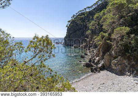 Views Of Pedrosa Cove In Llafranc, Girona, Catalonia, Spain.
