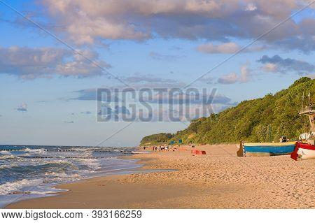 Baltic Sea At Summer Day. Rewal, Poland, Europe