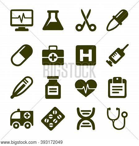 Medicine And Health Symbols - Outline Web Icon Set. Bacteria, Virus Vector Line Icons. Coronavirus I