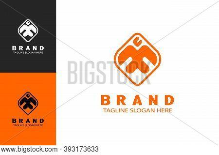 Fire Headed Bird Design Concept, Phoenix Bird Logo Illustration. Modern Simple And Minimalist Logo D