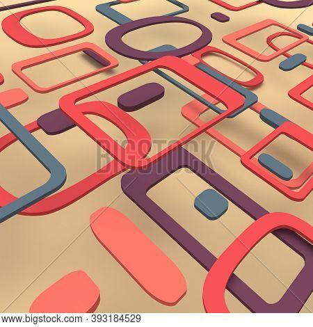 60s Background Vintage Geometric Pop Design Wallpaper