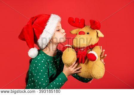 Christmas Holiday Cultural Attributes. Reindeer And Santa Claus. Helper Of Santa. Winter Holiday. Se