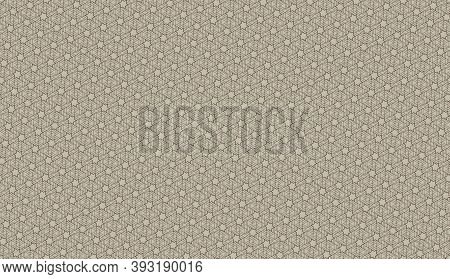 Seamless Geometric Pattern With Editable Weight Of Stroke, Hexagram Line Brown Color. Abstract Backg