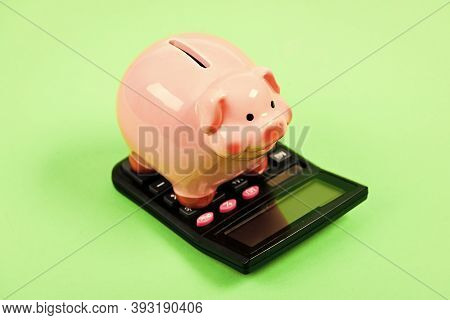 Tax Savings. Piggy Bank Money Savings. Investing Gain Profit. Calculate Taxes. Piggy Bank Pig And Ca
