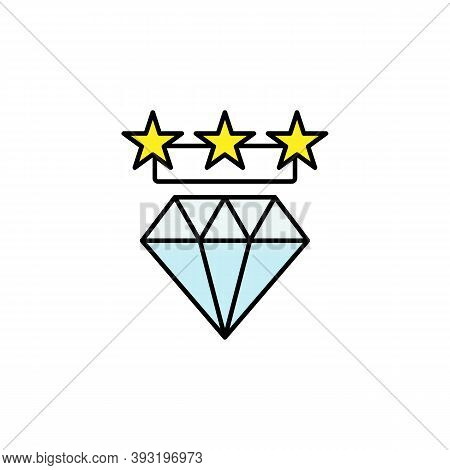 Diamond, Stars, Shopping, Quality Line Icon. Elements Of Black Friday And Sales Icon. Premium Qualit