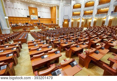 Bucharest, Romania - July 09, 2020: The Quarantine And Isolation Law In Case Of Epidemic Or Biologic