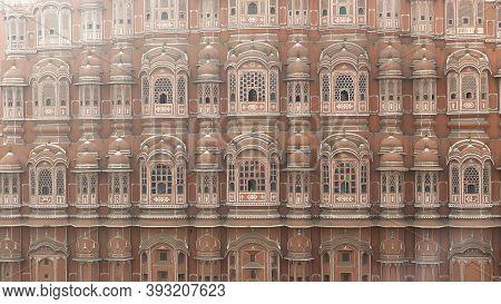 An Afternoon Close Shot Of Hawa Mahal Palace In Jaipur