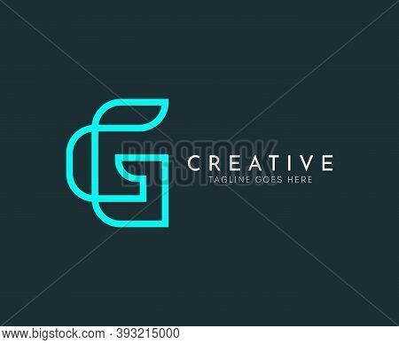 G Letter Vector Blue Line Logo Design Template. Creative Logotype Icon Symbol. Gaming, E-sports, Or