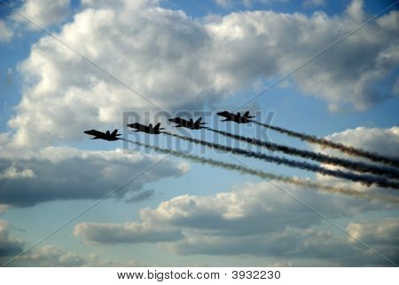 Blue Angels Fly By