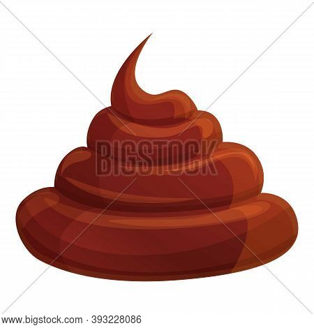Fresh Chocolate Paste Icon. Cartoon Of Fresh Chocolate Paste Vector Icon For Web Design Isolated On