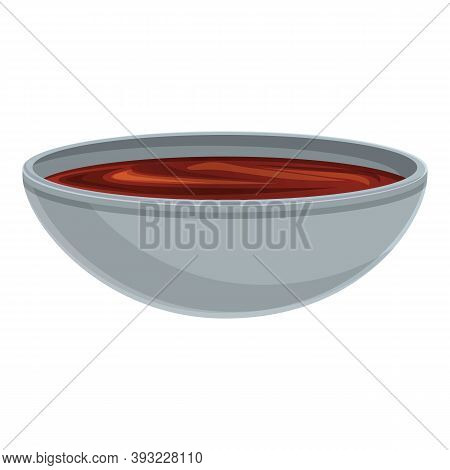 Bowl Chocolate Paste Icon. Cartoon Of Bowl Chocolate Paste Vector Icon For Web Design Isolated On Wh