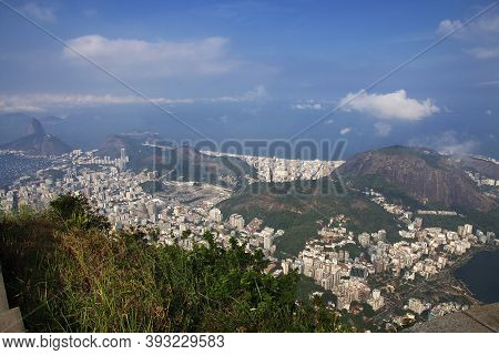 Rio De Janeiro, Brazil - 08 May 2016: The View From Corcovado Hill On Rio De Janeiro, Brazil
