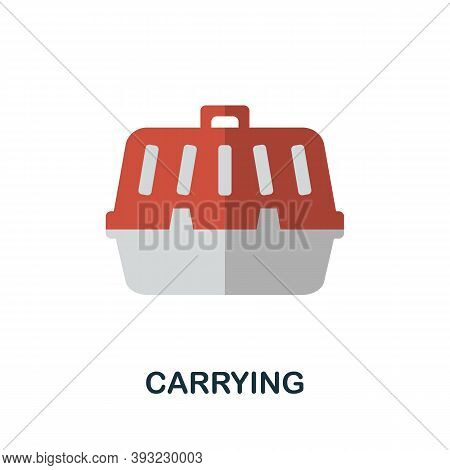 Carrying Icon. Simple Element From Home Animals Collection. Creative Carrying Icon For Web Design, T