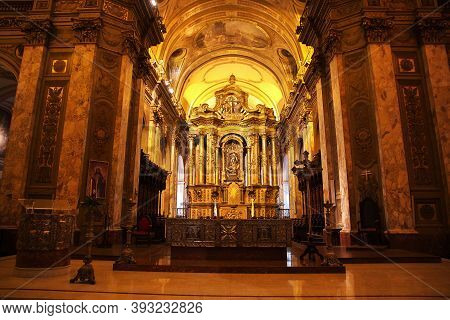 Buenos Aires, Argentina - 02 May 2016: The Church In Buenos Aires, Argentina