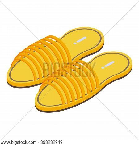 Sandals Icon. Isometric Of Sandals Vector Icon For Web Design Isolated On White Background