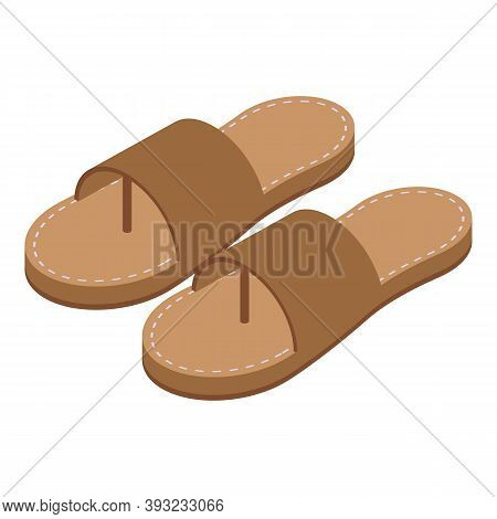 Boy Sandals Icon. Isometric Of Boy Sandals Vector Icon For Web Design Isolated On White Background