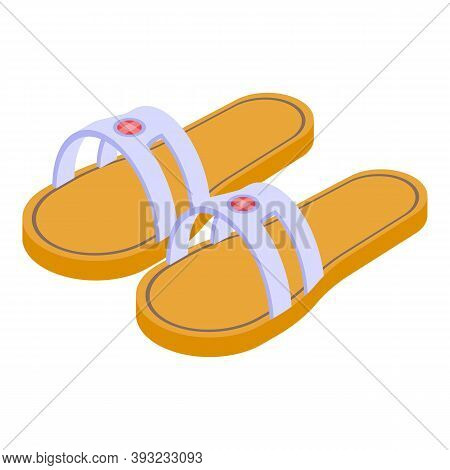Trendy Sandals Icon. Isometric Of Trendy Sandals Vector Icon For Web Design Isolated On White Backgr