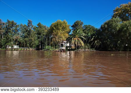 Buenos Aires, Argentina - 03 May 2016: The Delta Of Tigre River, Buenos Aires, Argentina