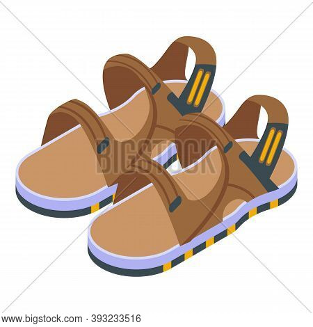Everyday Sandals Icon. Isometric Of Everyday Sandals Vector Icon For Web Design Isolated On White Ba