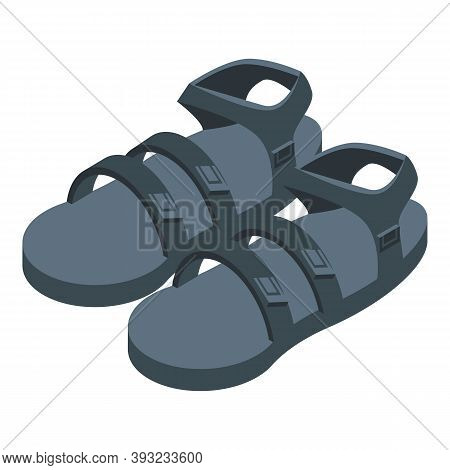 Activity Sandals Icon. Isometric Of Activity Sandals Vector Icon For Web Design Isolated On White Ba