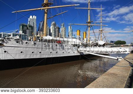 Buenos Aires, Argentina - 03 May 2016: The Marina In The Center Of Buenos Aires, Argentina