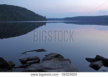 Sundown at Otterslide Lake