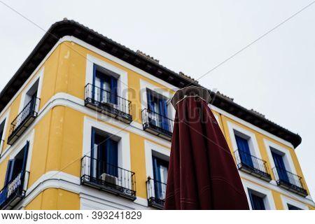 Old Buildings In Latina Quarter In Central Madrid