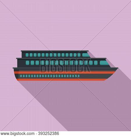 Tourism Cruise Icon. Flat Illustration Of Tourism Cruise Vector Icon For Web Design