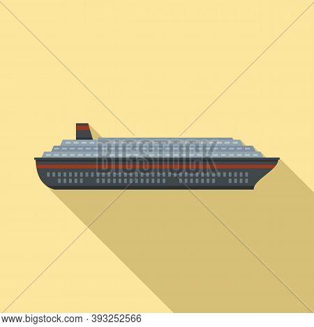 Floating Cruise Icon. Flat Illustration Of Floating Cruise Vector Icon For Web Design