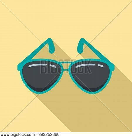 Cruise Sunglasses Icon. Flat Illustration Of Cruise Sunglasses Vector Icon For Web Design