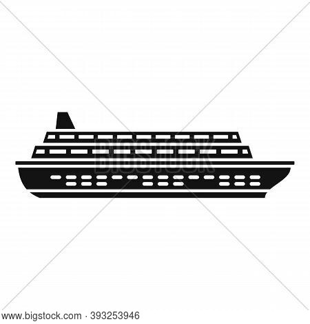 Cruise Vessel Icon. Simple Illustration Of Cruise Vessel Vector Icon For Web Design Isolated On Whit