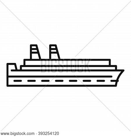 Naval Cruise Icon. Outline Naval Cruise Vector Icon For Web Design Isolated On White Background