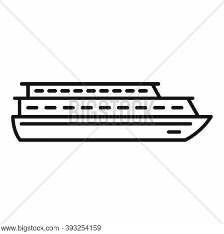 Vacation Cruise Icon. Outline Vacation Cruise Vector Icon For Web Design Isolated On White Backgroun
