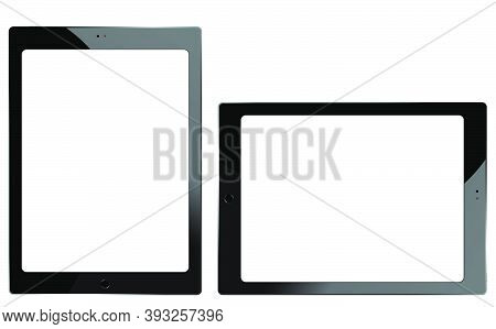 Tablet Mockup. Mobile Technology Template Blank. Digital Device Display Design With Frame. Isolated