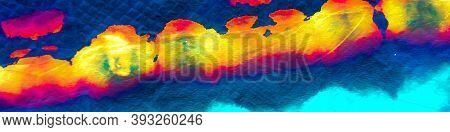 Uv Background. Trandy  Acrylic Artwork. Dark And Cyan  Banner. Vivid Dark  And Deep Blue Print.  Abs