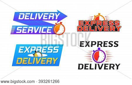 Express Delivery Logo Banner Icon For Apps And Website Isolated On White Background. Fast Shipping S