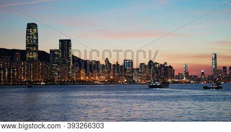 Sau Kei Wan, Hong Kong 24 July 2020: Hong Kong sunset