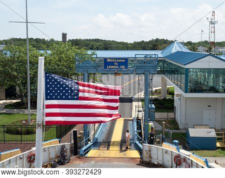Lewes, Usa - June 10, 2019: Access To The Ferry From Cape Henlopen To Cape May.