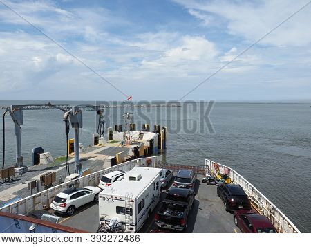 Lewes, Usa - June 10, 2019: The Ferry From Cape Henlopen To Cape May Is Ready For Departure.