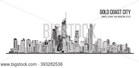 Cityscape Building Abstract Shape And Modern Style Art Vector Design -   Gold Coast City
