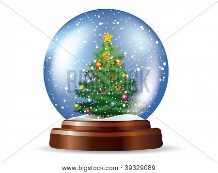 Snowglobe with Christmas tree