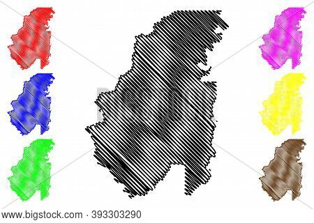 Franklin County, Louisiana (u.s. County, United States Of America, Usa, U.s., Us) Map Vector Illustr