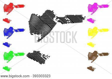 Iberia County, Louisiana (u.s. County, United States Of America, Usa, U.s., Us) Map Vector Illustrat