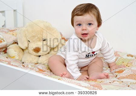 Baby With Plush Dog