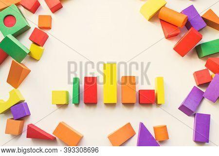 Children's Designer From Blocks Of A Different Form. Construction, Childrens Designer, Blocks, Cubes