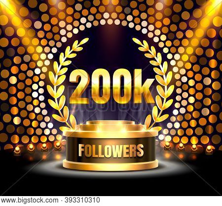 Thank You Followers Peoples, 200k Online Social Group, Happy Banner Celebrate, Vector
