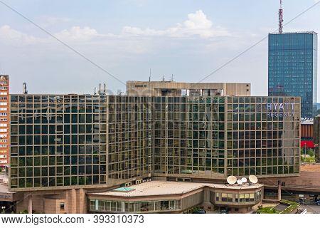 Belgrade, Serbia - June 23, 2019: Hyatt Regency Hotel Building In Belgrade, Serbia.