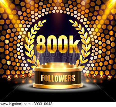 Thank You Followers Peoples, 800k Online Social Group, Happy Banner Celebrate, Vector