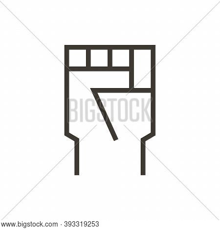 Closed Fist. Vector Illustration Icon Of Hand Representing Different Subjects Like Riots, Change, Mo